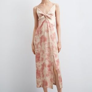 ZARA TIE-DYE DRESS   LIGHT PINK - 4661/108